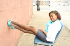 Linking a smile with mile long legs