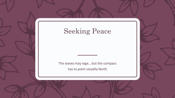 seek peace 2