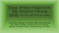 Sitting Out - Social